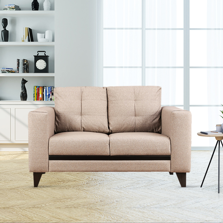 Garcia Fabric Two Seater sofa in Brown Colour by HomeTown