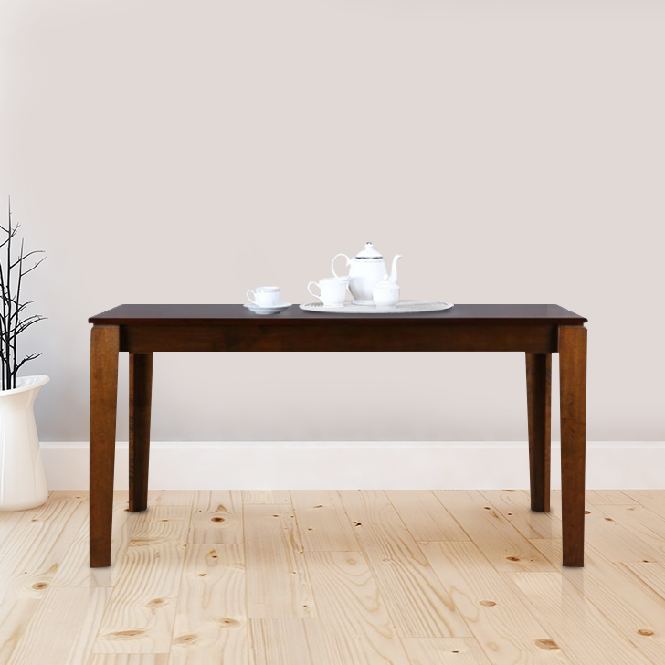 Metro Solid Wood Six Seater Dining Table in Esspresso Colour by HomeTown