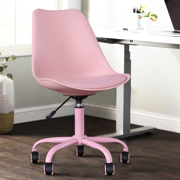 Junior Plastic Study Chair in Pink Colour by HomeTown