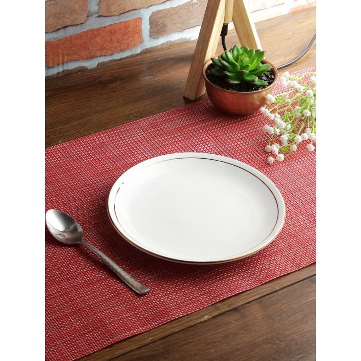Avril Bone China Quarter Plate 18 Cm in White Colour by Living Essence