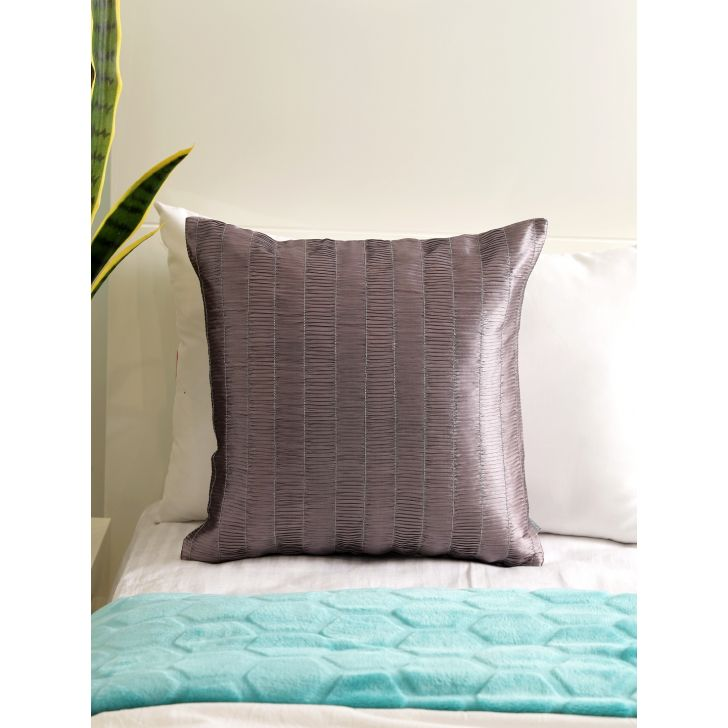 Silk Route  Cushion Cover 16X16 CM in Crush Mauve Colour by Living Essence