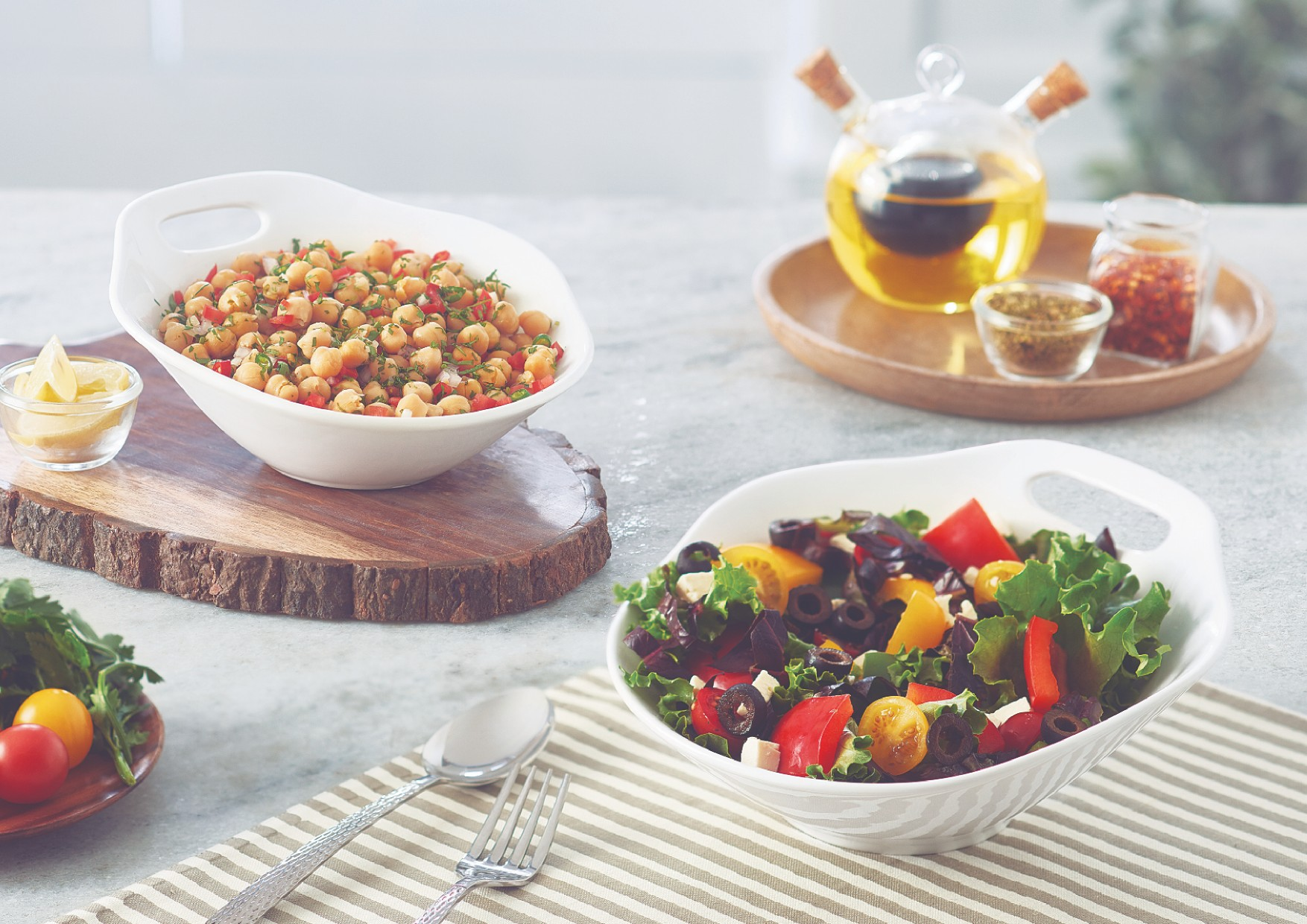 Buy Salad Bowl W Handle Large Ceramic Serving Bowls In White Colour By Songbird Online At Best Price Hometown In