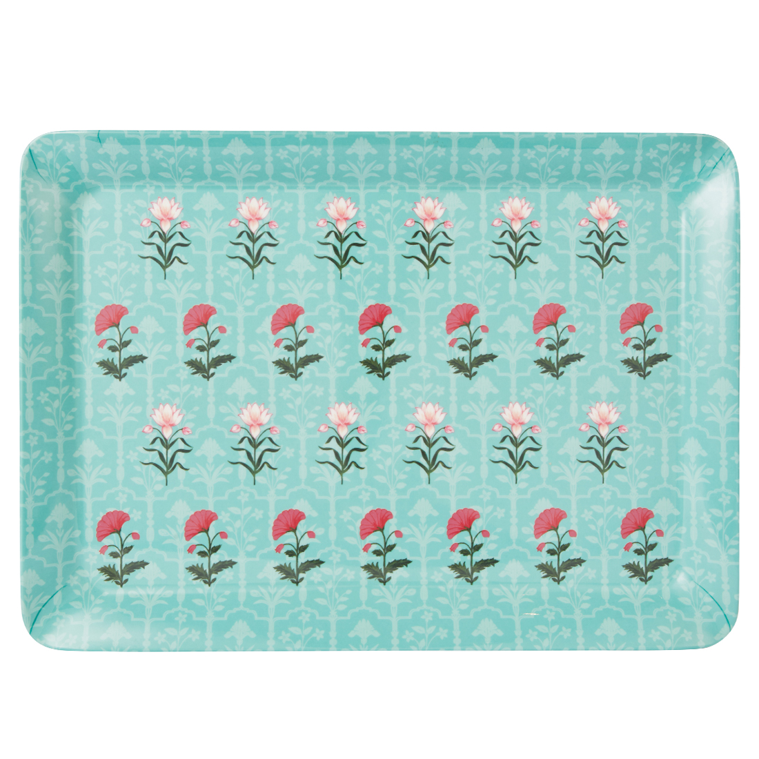 Rambagh Stylo Large Tray Trays in Multicolour Colour by Living Essence