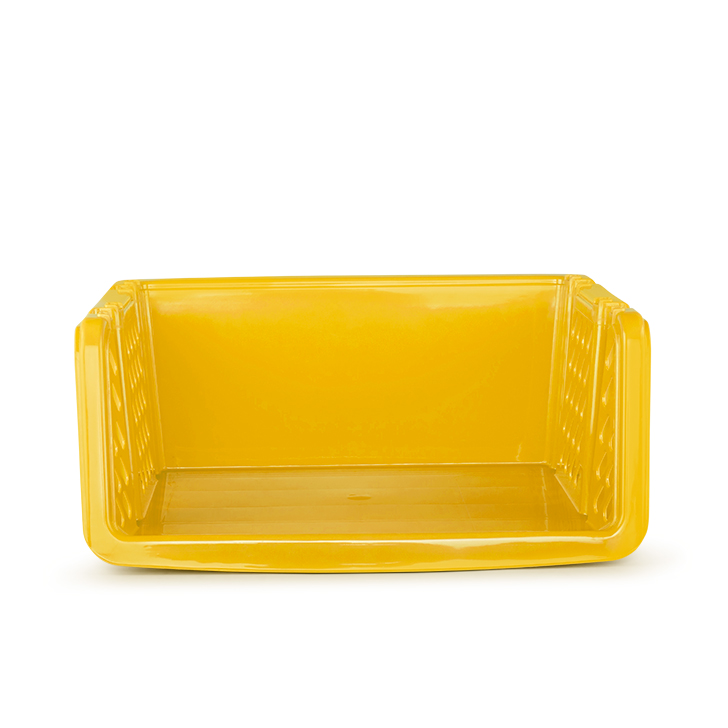 Storage Basket Mustard Yellow Plastic Kitchen Storage in Mustard Yellow Colour by Living Essence