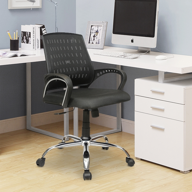 Luxor Mesh Office Chair in Black Colour