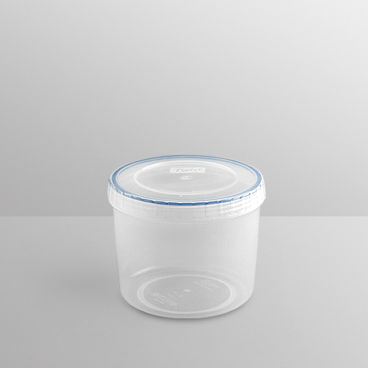Lock & Lock Round Container 940 Ml Polypropylene Containers in Transparent Colour by Lock & Lock