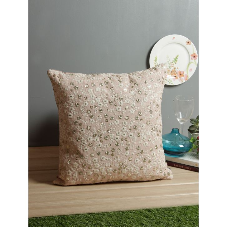Ditsy Floral Cotton Cushion Covers in Blush Colour by Living Essence