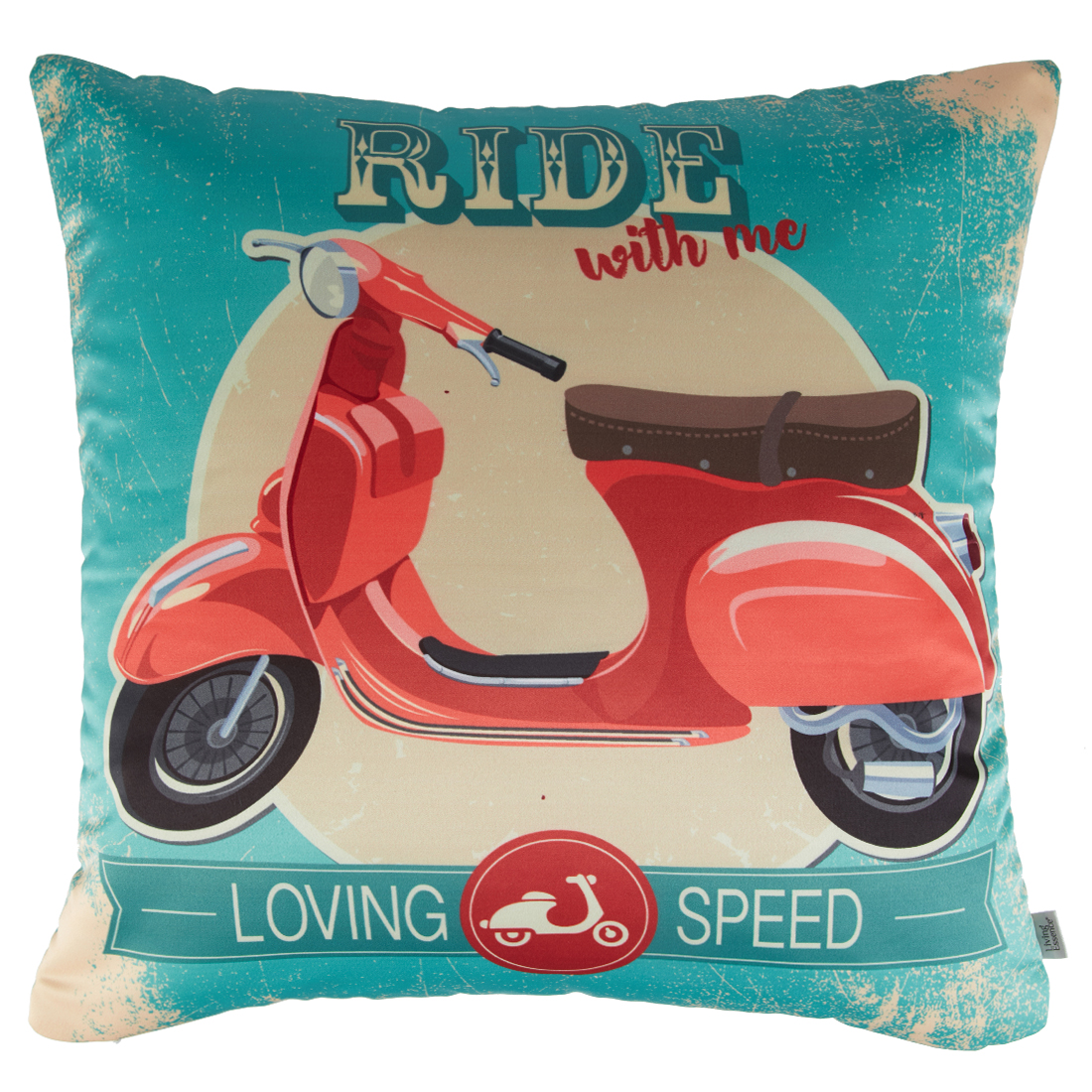 Digital Cushion Cover Scooter Cushion Covers in Poly Satin Colour by Living Essence