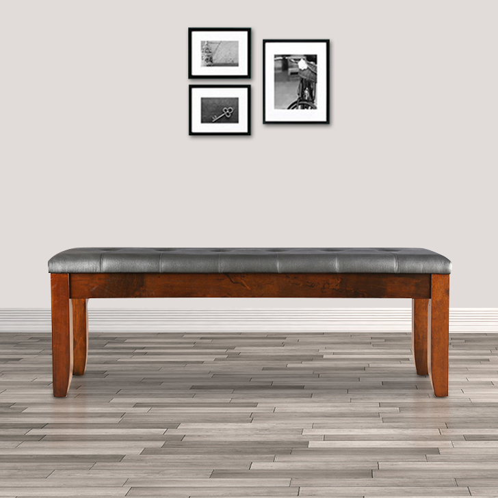 Lobito Solid Wood Dining Bench in Walnut Colour by HomeTown