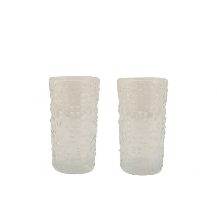 Glacier Water Tumblers Set Of Six Glass Glasses & Tumblers in Transparent Colour by HomeTown