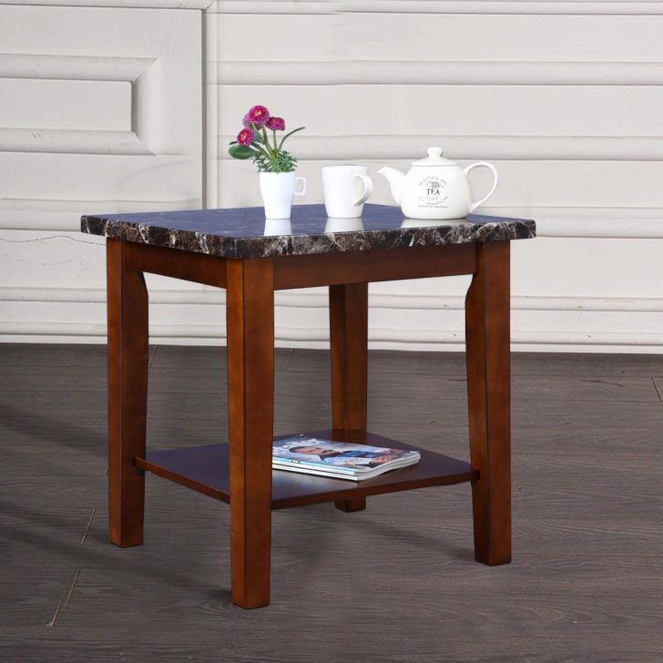 Eden Solid Wood Side Table in Brown Colour by HomeTown