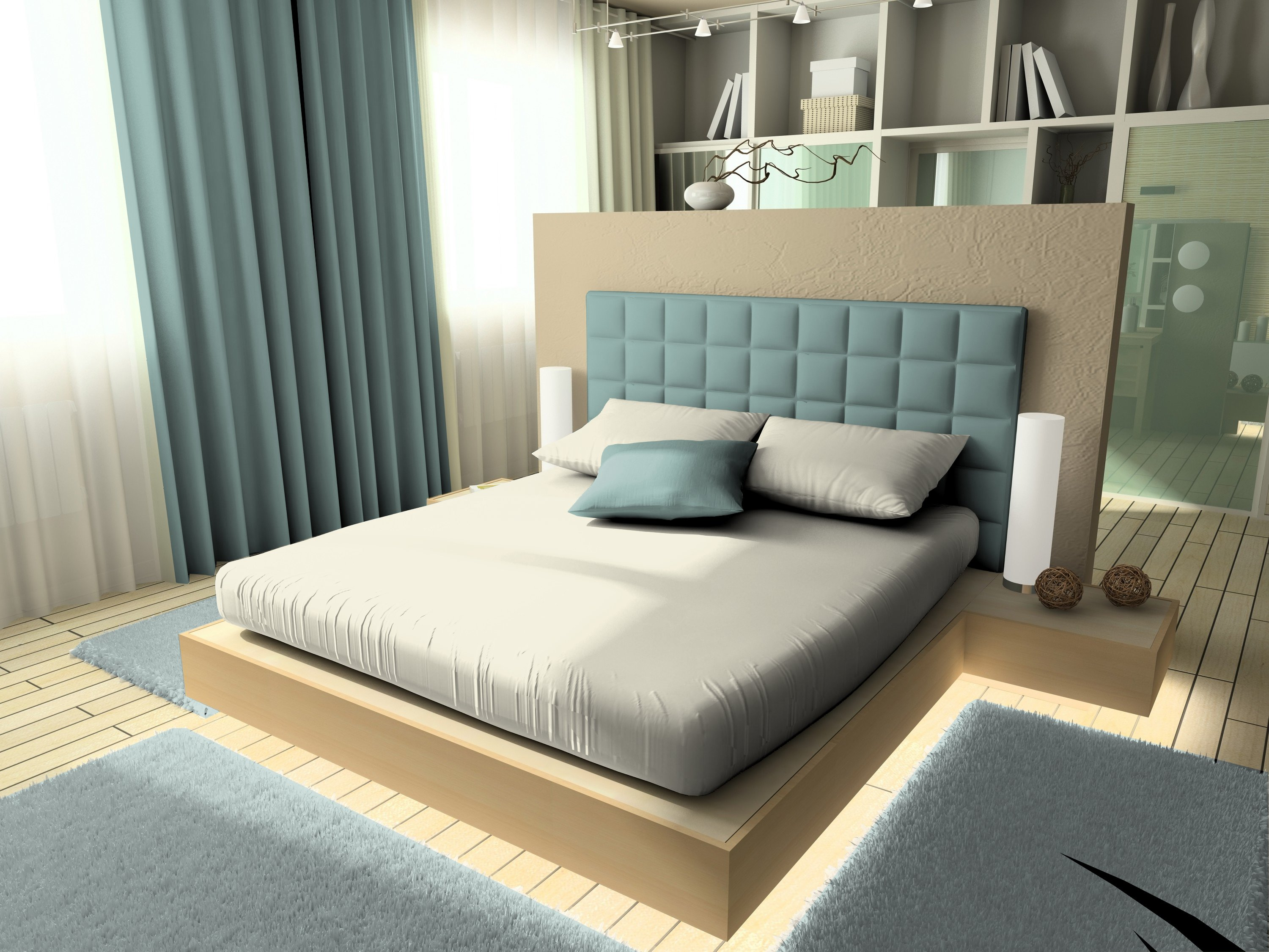 Spaces Flexi Fit Ivory With Fabric Drop Double Cotton Double Bed Sheets in Ivory Colour by Spaces