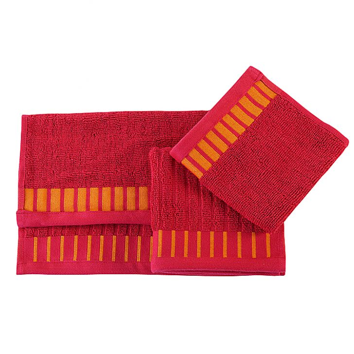 Tangerine Scarlet Sunset Maroon Face Towel Set of Four Pieces