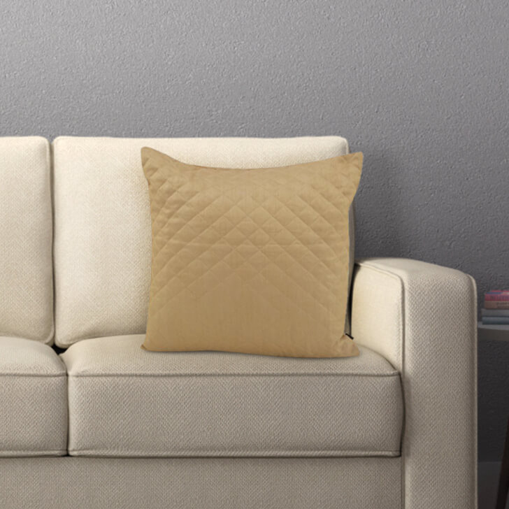 Shelby Beige Polyester Cushion Covers in Beige Colour by Living Essence