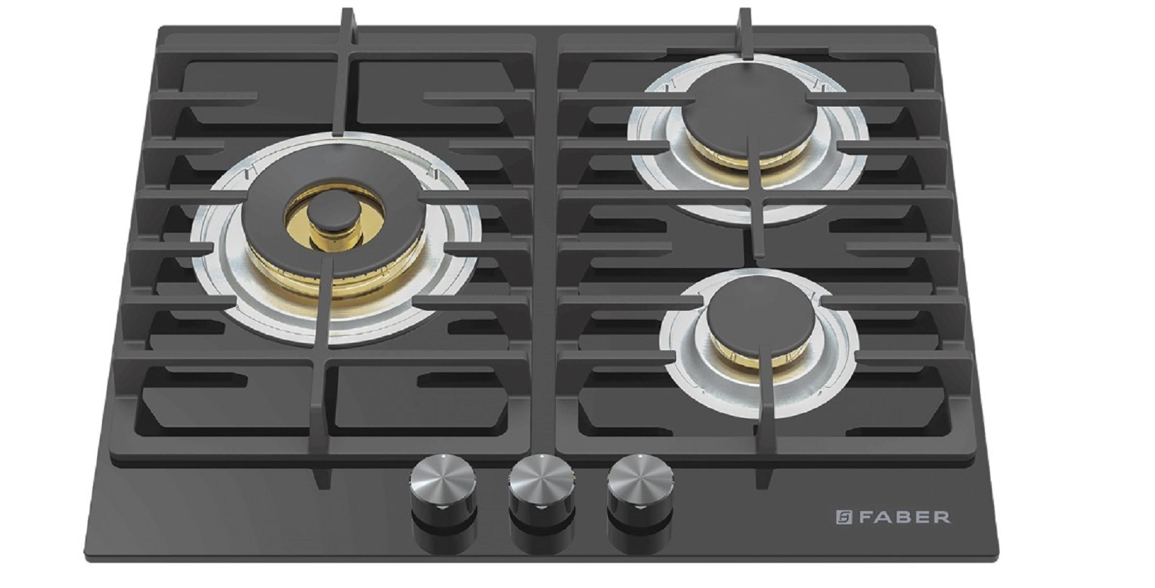Faber Stainless steel Built- In-Hob Gas FPH 603 BK by HomeTown