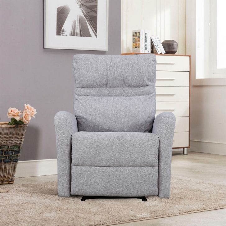 Ontario Fabric Single Seater Recliner in Capucinno Colour by HomeTown