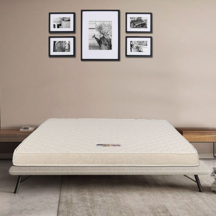 Mattress Daisy PU Foam Queen Bed (78*60*5) in Off White Colour by HomeTown