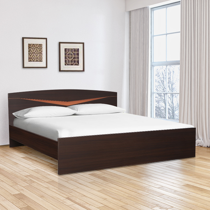 Viking Engineered Wood Queen Size Bed in Denever Oak Colour by HomeTown