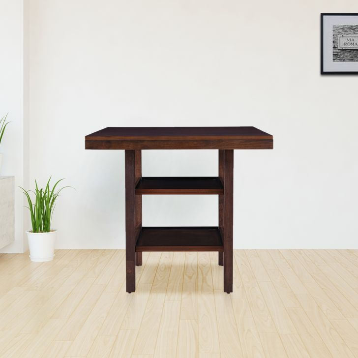 Hopton Solidwood 4 Seater Dining Table in Walnut Colour by HomeTown