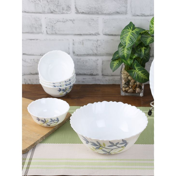 Laopala Opalware Pudding Set of 7 pc in Multi Colour by Laopala