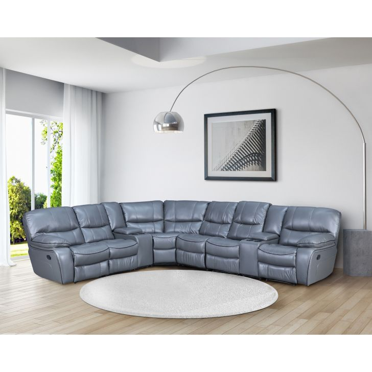 Indus Leatherette Lounger Recliner in Grey Colour by HomeTown
