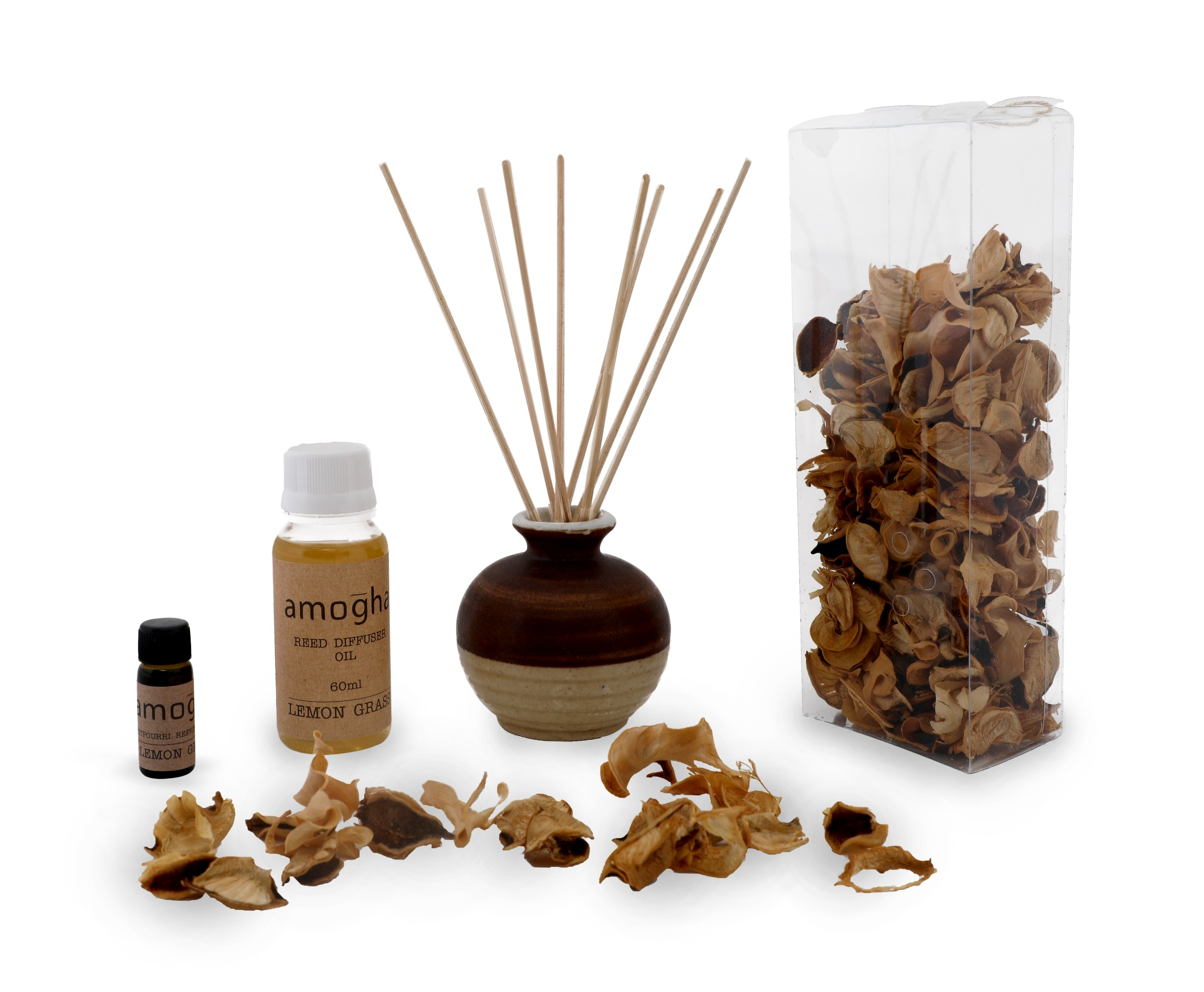 Iris Amogha Red Diffuser Lemon Grass Ceramic Scented Oil in Lemon Colour by HomeTown