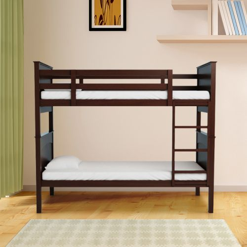 Buy Novitta Solid Wood Bunk Bed In Capuccino Colour By Hometown