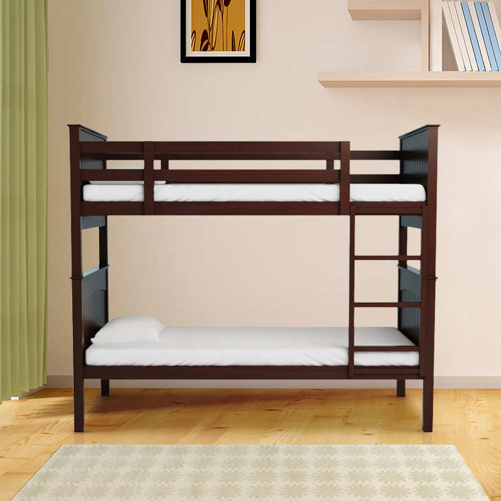 Novitta Solid Wood Bunk Bed in Capuccino Color by HomeTown