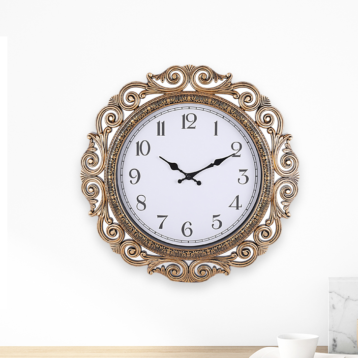 Aristo Anoki Frame Plastic Classic Clocks in Gold Colour by Living Essence