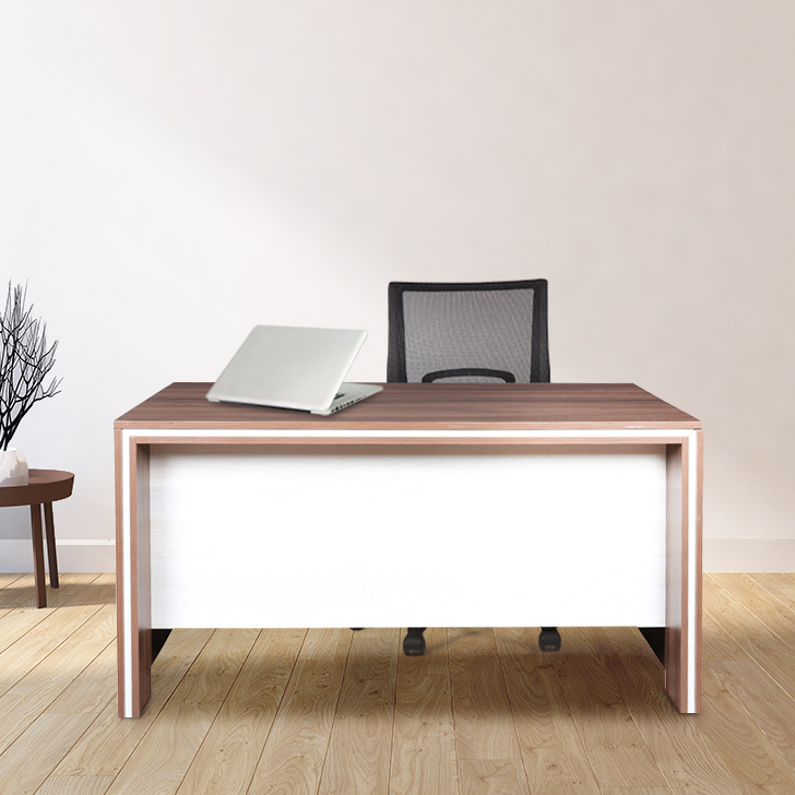 Merit Engineered Wood Office Table in Dual Colour by HomeTown