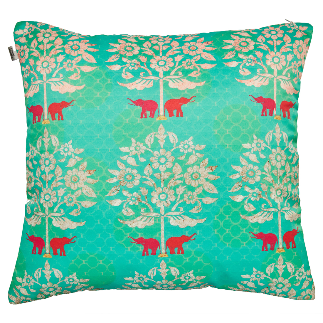 Digital Cushion Cover Gardenia Cushion Covers in Poly Satin Colour by Living Essence