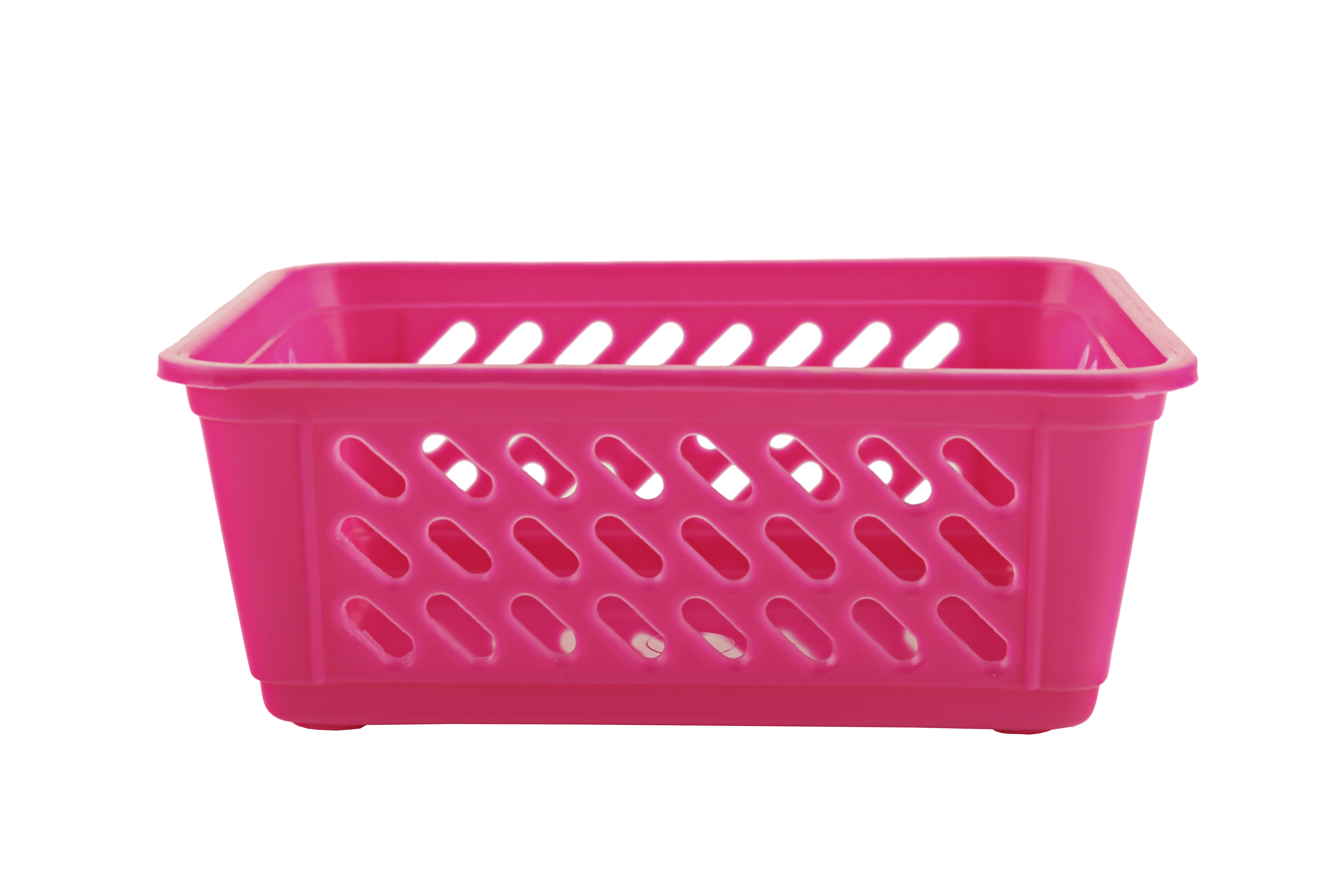 Sieve Multi Purpose Basket Plastic Kitchen Organizers in Pink Colour by Living Essence