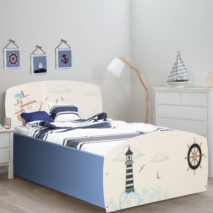 Noah Engineered Wood Box Storage Single Bed in White Colour by HomeTown