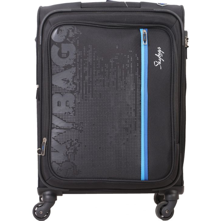 Skybags Zillion Spinner 58 cm Soft Trolley (Charcoal Black)