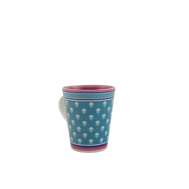 Vrindavan Sing Mug Ceramic Coffee Mugs in Teal & Pink Colour by HomeTown