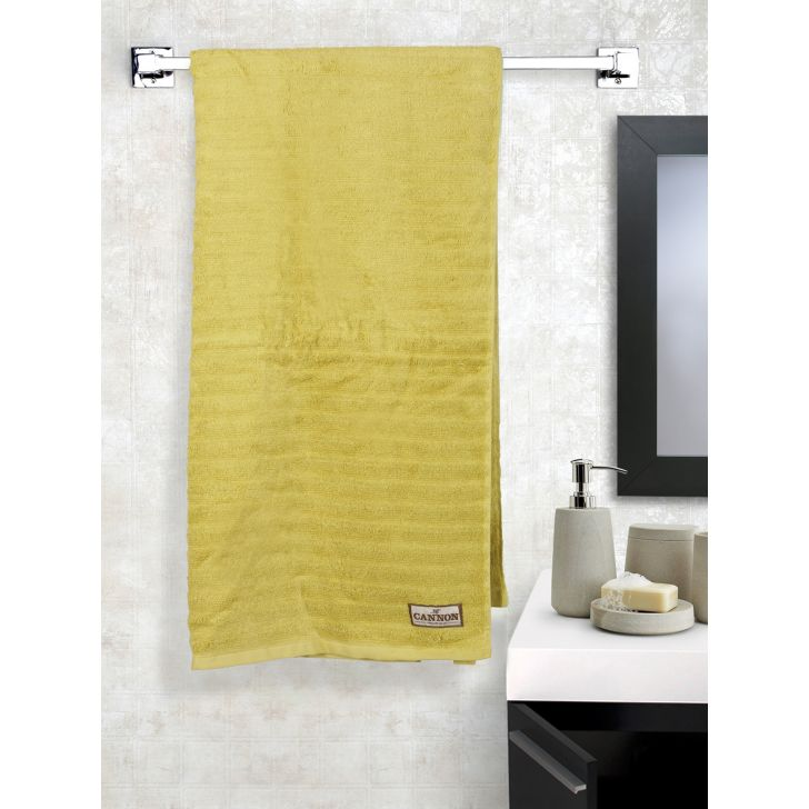 Zero Twist Cotton Bath Towels in Yellow Colour by Cannon
