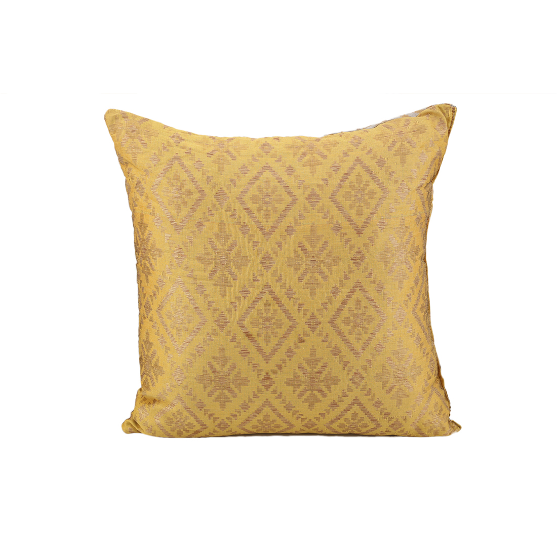 Miraya Mustard Grey Polyester Filled Cushions in Mustard Grey Colour by Living Essence
