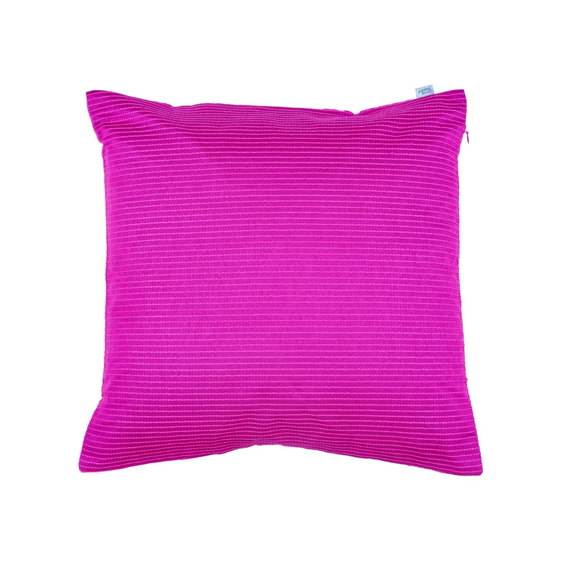 Pin Stripe Cushion Cover 40X40 Cm Pink Polyester Cushion Covers in Pink Colour by Living Essence