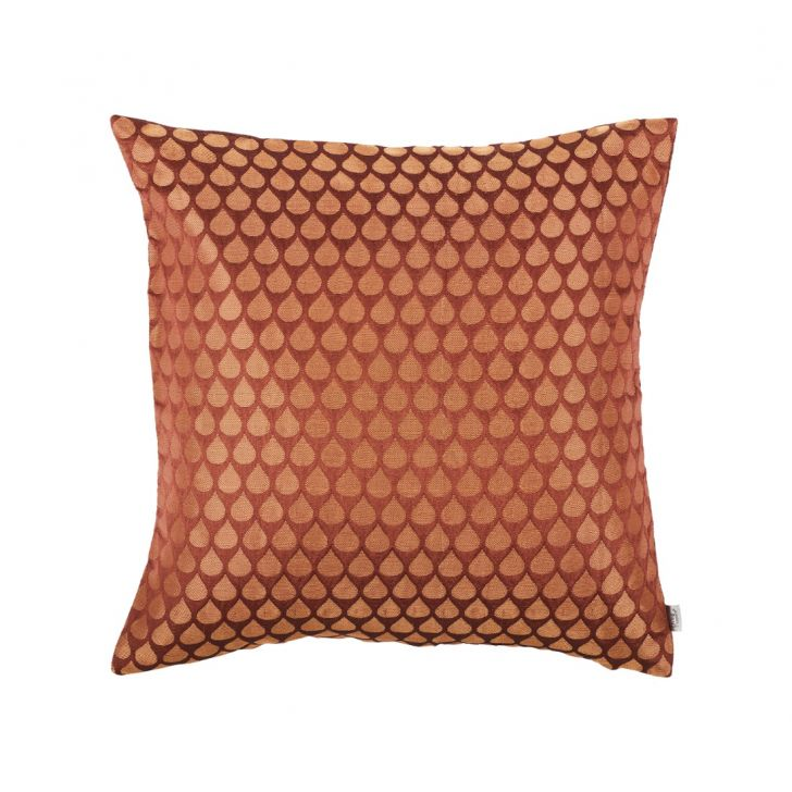 Drop Cushion Cover Brown Polyester Cushion Covers in Brown Colour by Living Essence