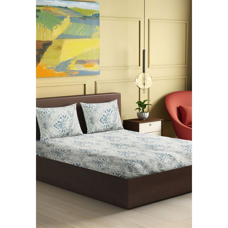 Twilight Cotton King Bedsheet 274 x 274cms in Navy Blue Colour