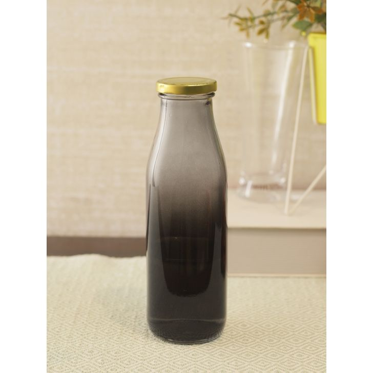 Smoke Ombre Glass Juice Bottle in Multi Colour by Living Essence