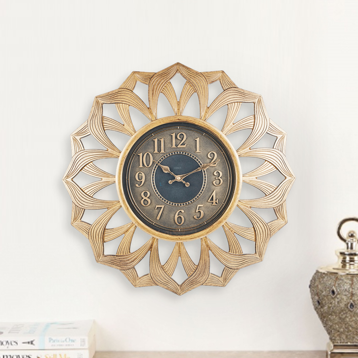 Aristo Floret Clock Classic Clocks in Brown, Neutrals Colour by Living Essence