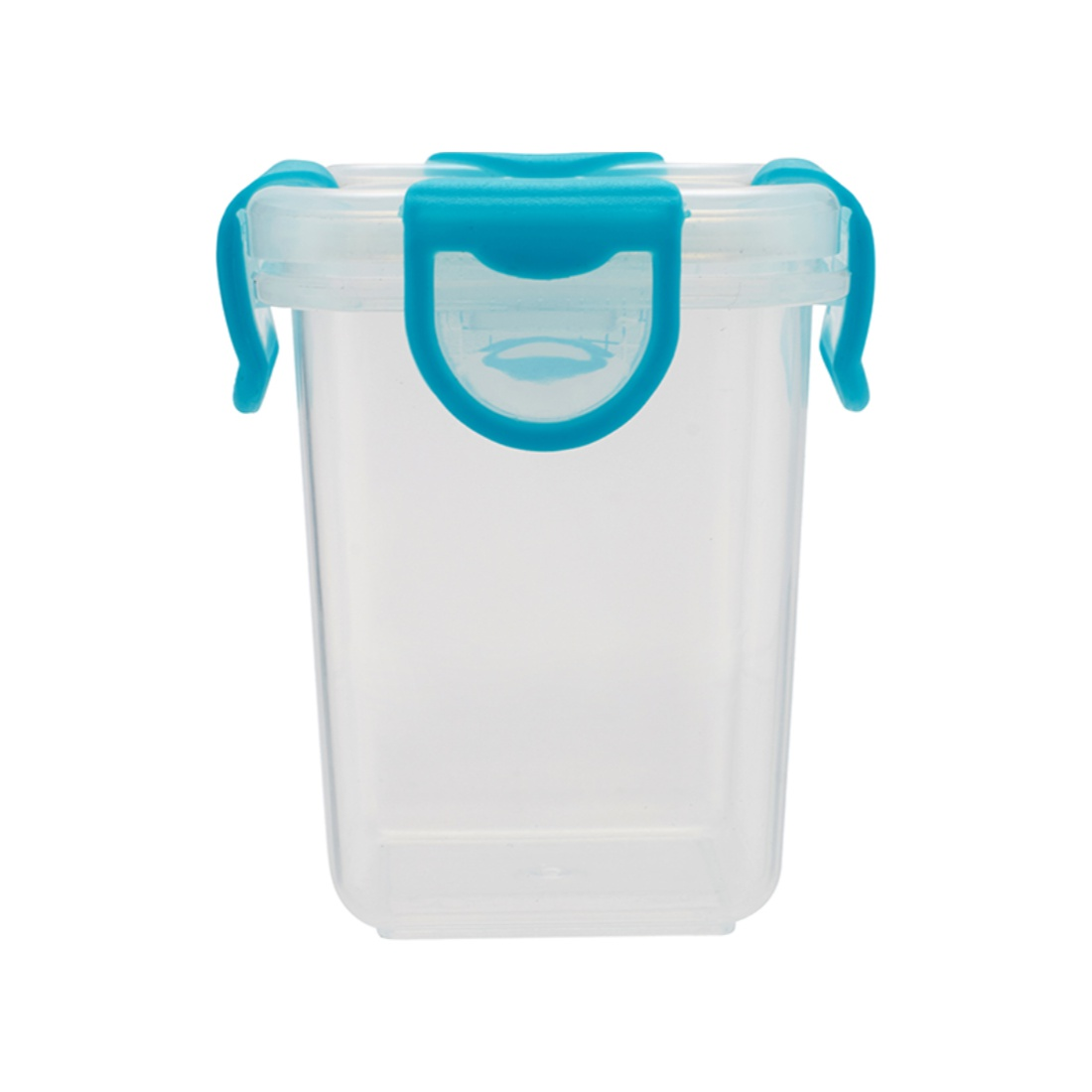 Clip Fresh 140 Ml Container Plastic Containers in Transparent And Blue Colour by Living Essence