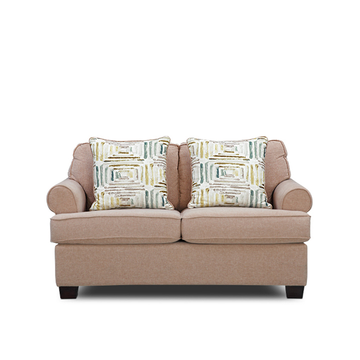 Cadence Fabric Two Seater sofa in Brown Colour by HomeTown