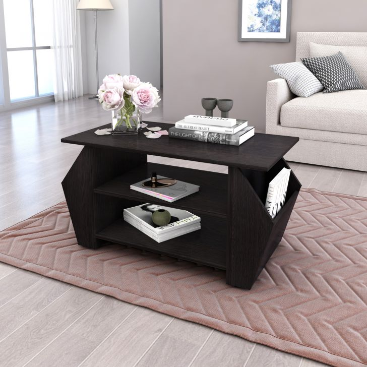 Stora Engineered Wood Center Table in Wenge Colour by HomeTown