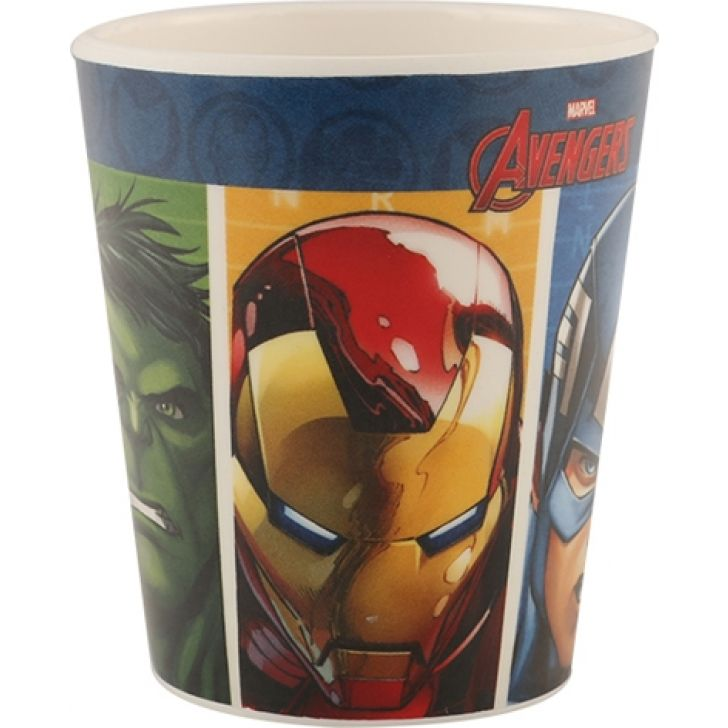 SW Kids Glass without cover Avengers Glasses & Tumblers in Multicolor Colour by Servewell