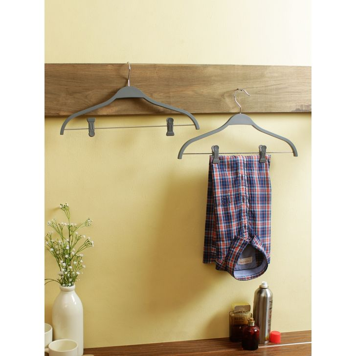 Plastic Hanger in Grey Colour by Living Essence