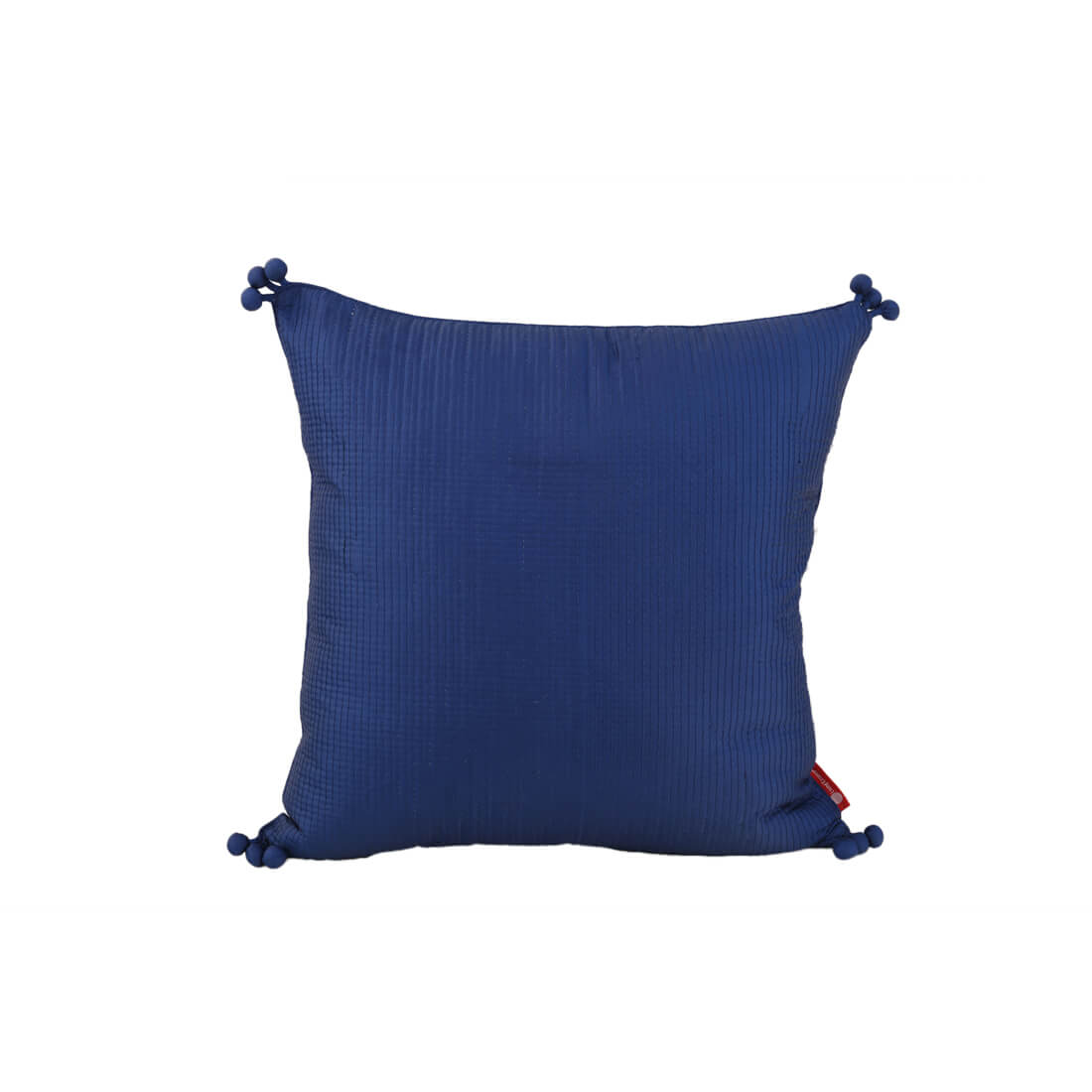 Pom Blue Polyester Cushion Covers in Blue Colour by Living Essence