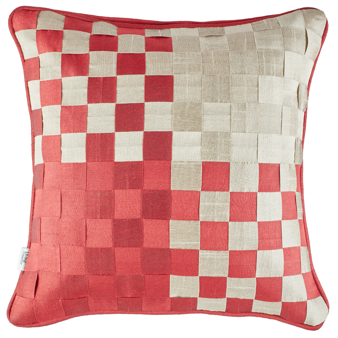 Basket Polyester Cushion Covers in Maroon Colour by Living Essence