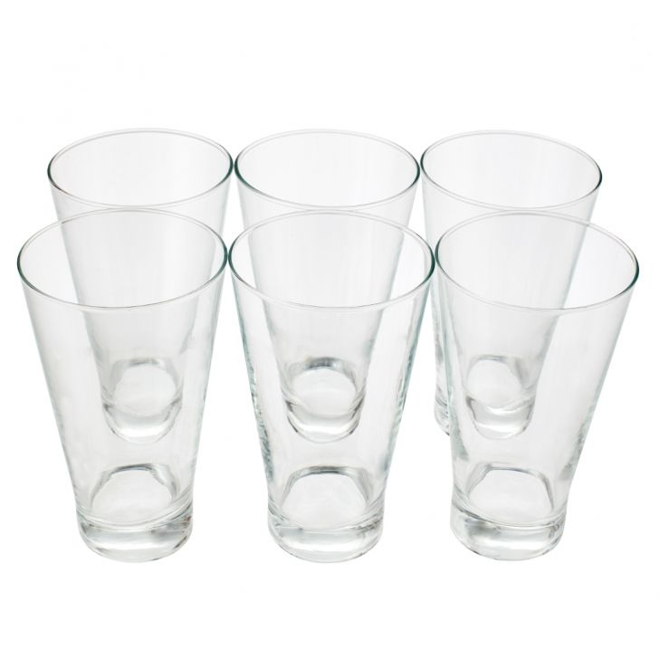 Conyx Hi Ball Glass Set Of 6 Pcs Glass Glasses & Tumblers in Transparent Colour by Sanjeev Kapoor